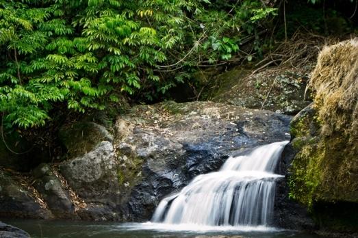 lower cascade of Talay Falls in Luisiana, Laguna