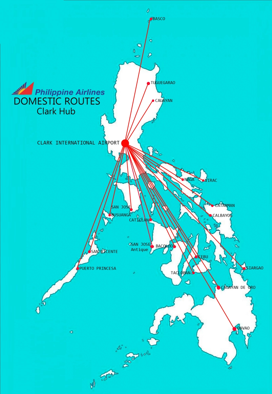 Philippine Airlines Clark International Airport Domestic Routes