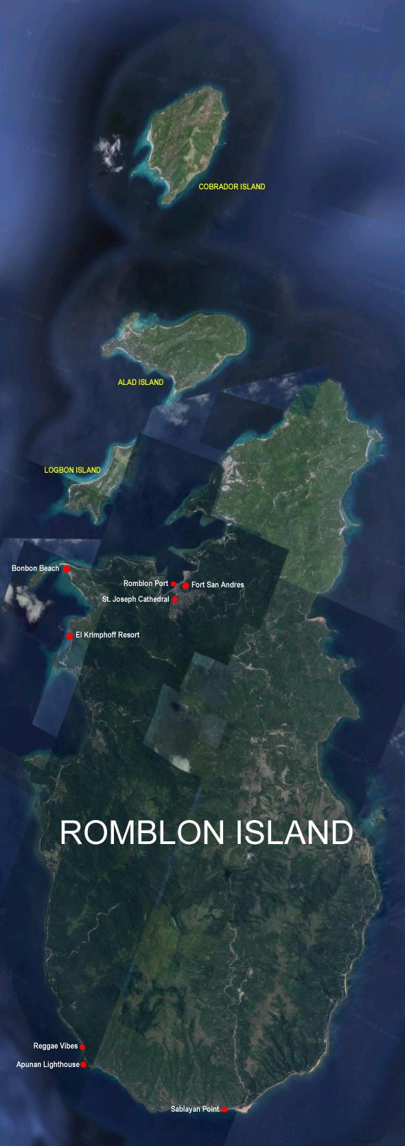 romblon island spot map of tourist destinations kapampangan traveller